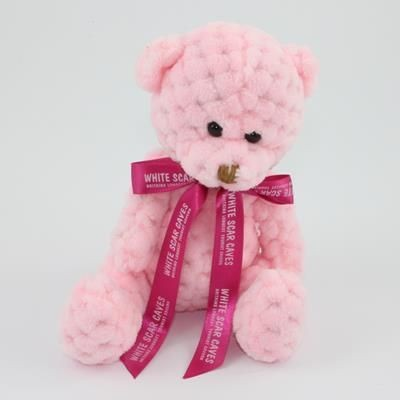 Picture of 15CM BOW CANDY FLOSS WAFFLE BEAR