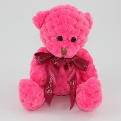 Picture of 15CM BOW FIESTA WAFFLE BEAR