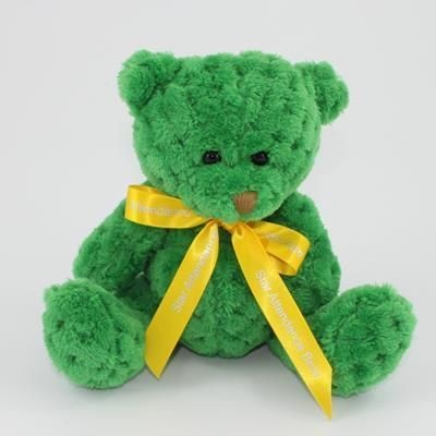 Picture of 15CM BOW KELLY WAFFLE BEAR