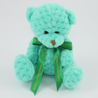 Picture of 15CM BOW MINT WAFFLE BEAR