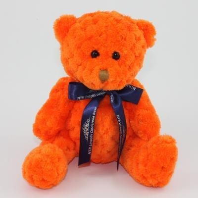 Picture of 15CM BOW PUMPKIN WAFFLE BEAR