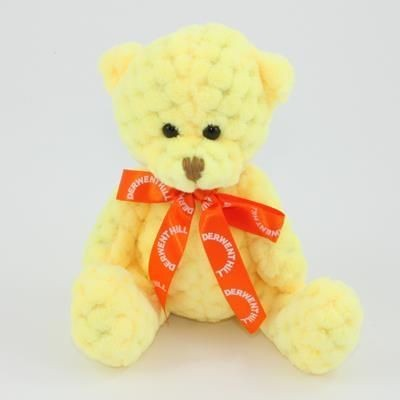 Picture of 15CM BOW SUNSHINE WAFFLE BEAR