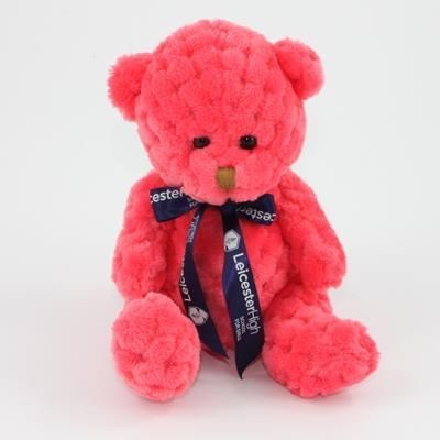 Picture of 15CM BOW WATERMELON WAFFLE BEAR