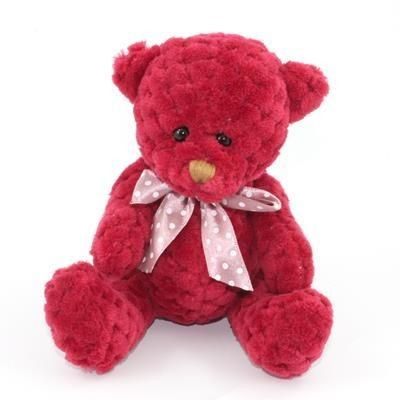 Picture of 15CM PLAIN  BERRY WAFFLE BEAR