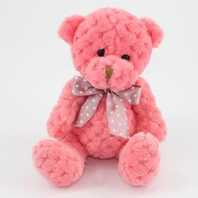 Picture of 15CM PLAIN  BLOSSOM WAFFLE BEAR