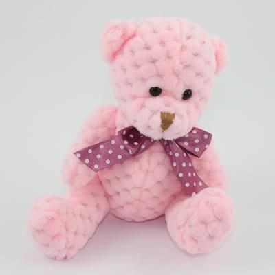 Picture of 15CM PLAIN  CANDY FLOSS WAFFLE BEAR