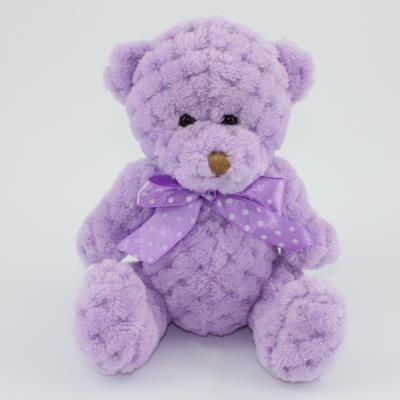 Picture of 15CM PLAIN  ORCHID WAFFLE BEAR