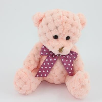 Picture of 15CM PLAIN  PEACH WAFFLE BEAR