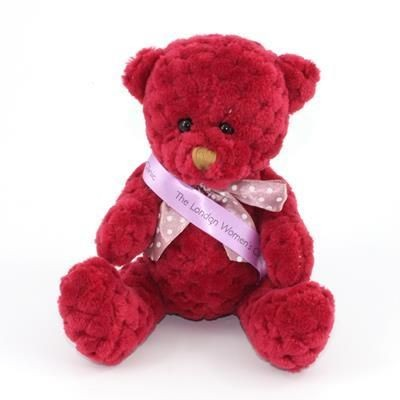 Picture of 15CM SASH BERRY WAFFLE BEAR