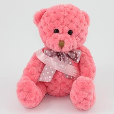 Picture of 15CM SASH BLOSSOM WAFFLE BEAR