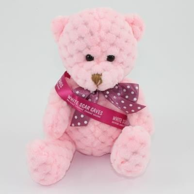 Picture of 15CM SASH CANDY FLOSS WAFFLE BEAR
