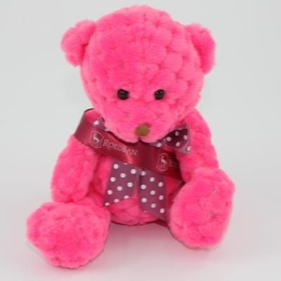 Picture of 15CM SASH FIESTA WAFFLE BEAR
