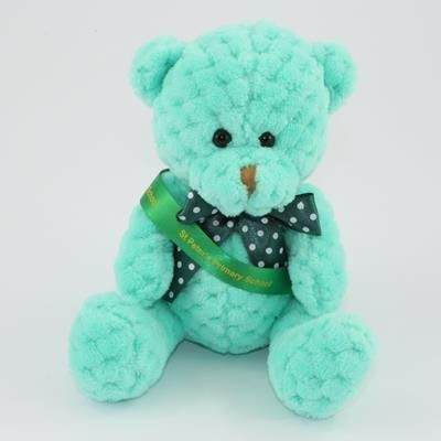 Picture of 15CM SASH MINT WAFFLE BEAR