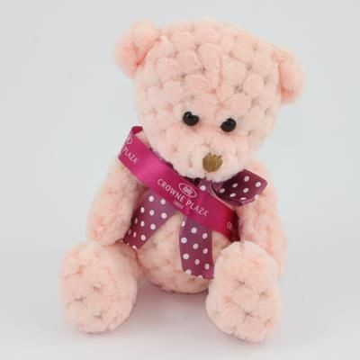 Picture of 15CM SASH PEACH WAFFLE BEAR
