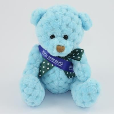 Picture of 15CM SASH SKY WAFFLE BEAR