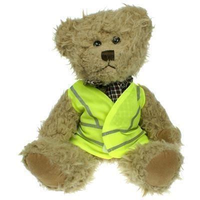 Picture of 25CM WINDSOR BEAR with Hi-vis Vest