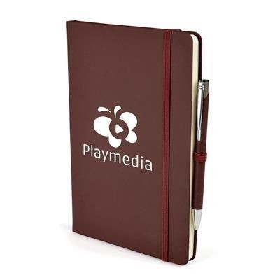 Picture of 2-IN-1 A5 MOLE NOTE BOOK & PEN in Burgundy