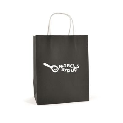 Picture of BRUNSWICK MEDIUM PAPER BAG in Black