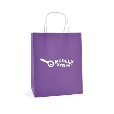 Picture of BRUNSWICK MEDIUM PAPER BAG in Purple
