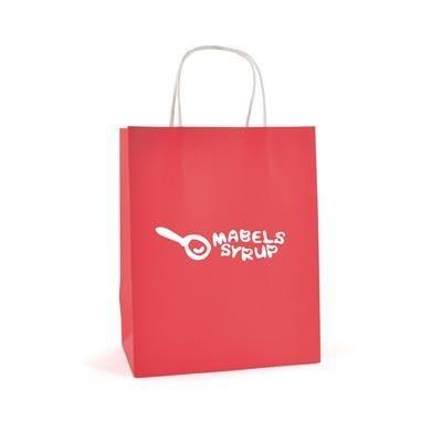 Picture of BRUNSWICK MEDIUM PAPER BAG in Red