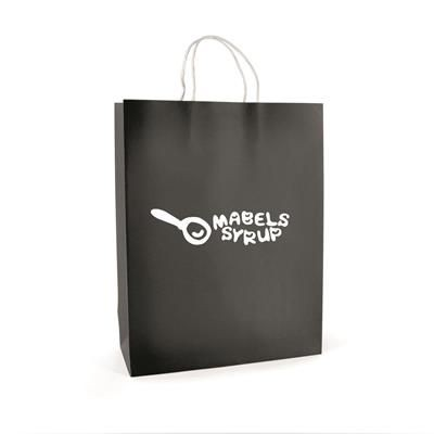 Picture of BRUNSWICK LARGE PAPER BAG in Black
