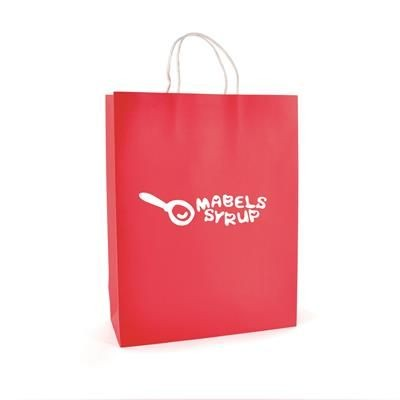Picture of BRUNSWICK LARGE PAPER BAG in Red