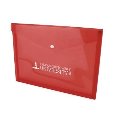 Picture of HYDE DOCUMENT FOLDER in Red