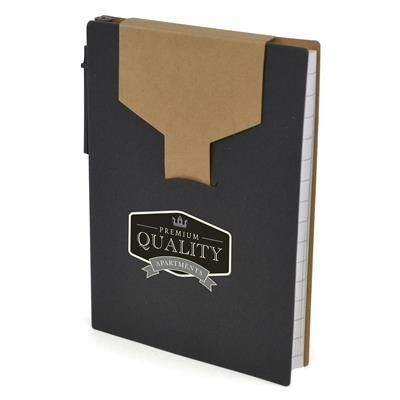 Picture of A6 PECKHAM NOTEBOOK in Black