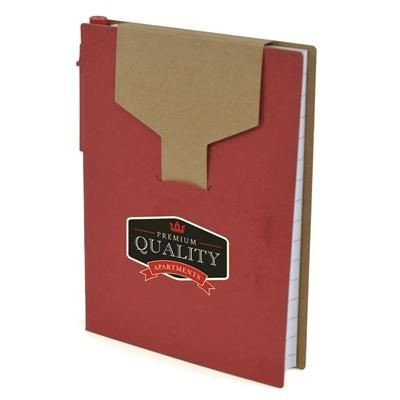Picture of A6 PECKHAM NOTEBOOK in Red