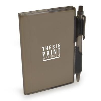Picture of A7 PVC NOTEBOOK AND PEN in Black