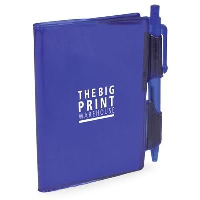 Picture of A7 PVC NOTEBOOK AND PEN in Blue