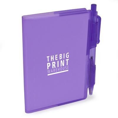 Picture of A7 PVC NOTEBOOK AND PEN in Purple