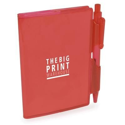 Picture of A7 PVC NOTE BOOK AND PEN in Red