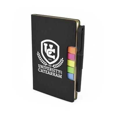 Picture of NOTE BOOK FLAG AND PEN SET in Black