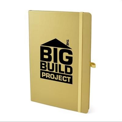 Picture of A5 MOLE NOTE BOOK in Gold