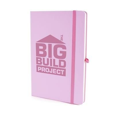 Picture of A5 MOLE NOTEBOOK in Pastel Pink PU
