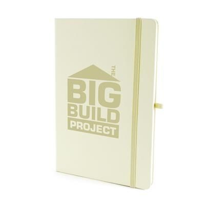 Picture of A5 MOLE NOTEBOOK in Pastel Yellow PU