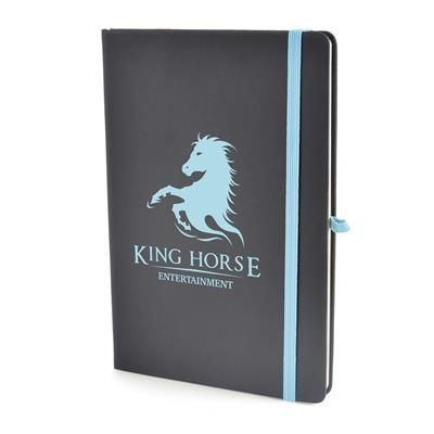 Picture of A5 BOWLAND NOTEBOOK in Cyan