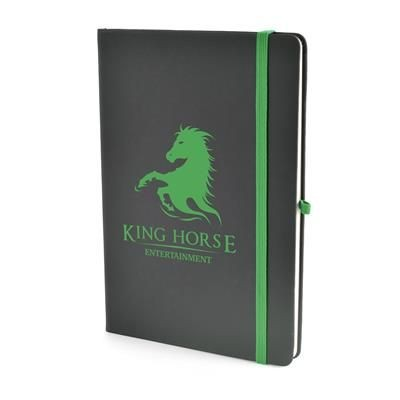 Picture of A5 BOWLAND NOTEBOOK in Green