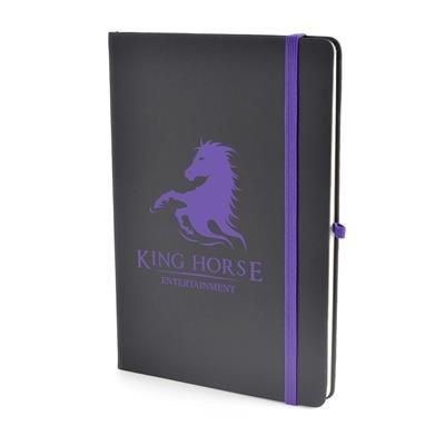 Picture of A5 BOWLAND NOTEBOOK in Purple