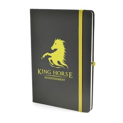 Picture of A5 BOWLAND NOTEBOOK in Yellow