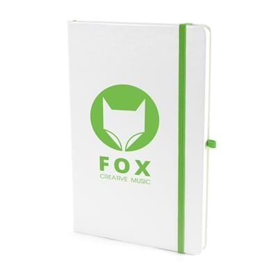 Picture of A5 WHITE PU NOTEBOOK in Green