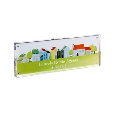 Picture of ACRYLIC DISPLAY CUBE BLOCK with Large Branding Area