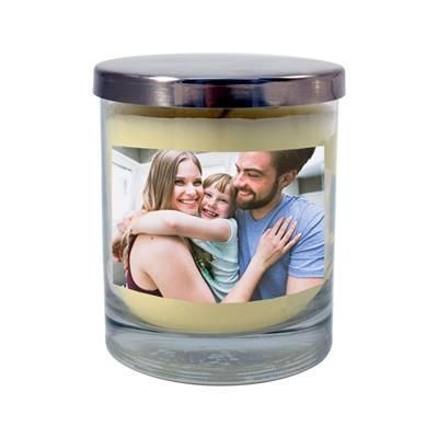 Picture of SCENTED CANDLE in Recyclable Glass Jar & Silver Lid
