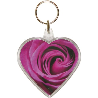 Picture of HEART SHAPE KEYRING in Clear Transparent Acrylic