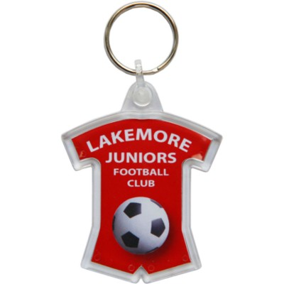 Picture of ACRYLIC SPORTS KIT SHAPE KEYRING in Clear Transparent