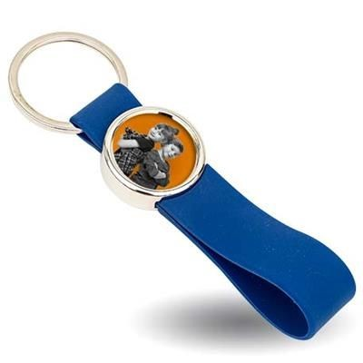 Picture of HEAVY DUTY SILVER COLOUR METAL KEYRING with Large Silicon Loop