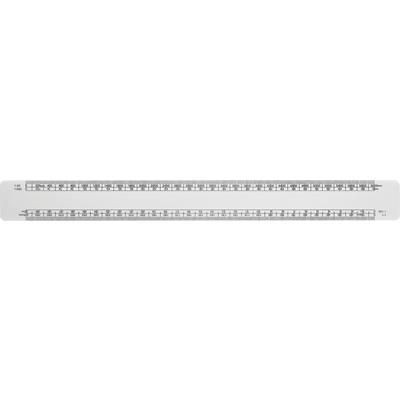 Picture of SOLID WHITE 30CM SCALE RULER with Full Colour Print to One Side