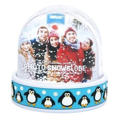 Picture of CLASSIC STYLE SNOW DOME with Light Blue Penguin Illustrated Base