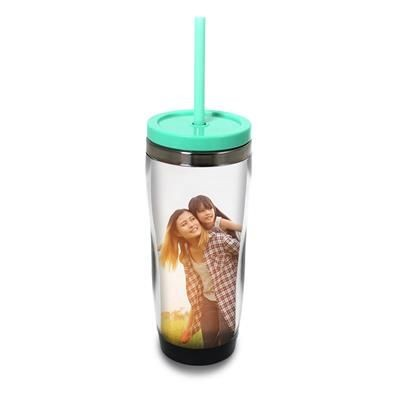 Picture of DOUBLE WALL PLASTIC TRAVEL SPORTS MUG